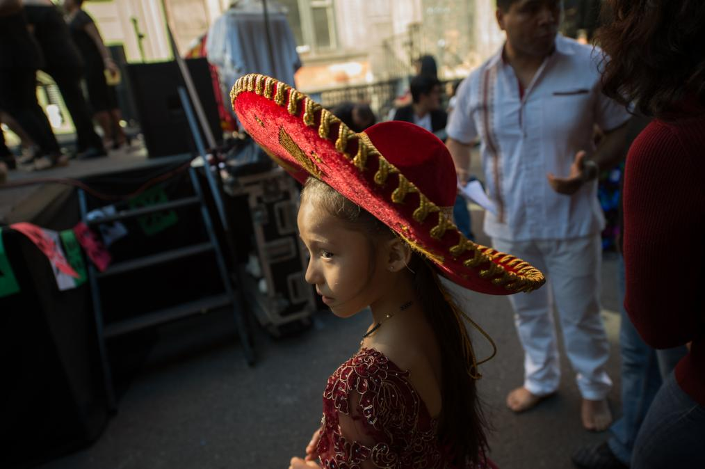 Mexican Block Party in Spanish Harlem