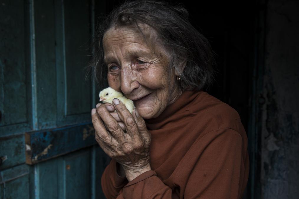 Elderly Lives frozen in Conflict: Ukraine's War
