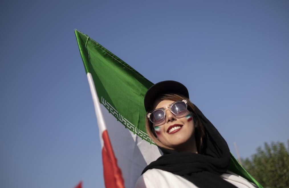 Iranian female soccer fans